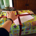 My husband wrapped the box before I got home. HarperCollins doesn't have an elf department.